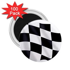 Flag Chess Corse Race Auto Road 2.25  Magnets (100 pack)