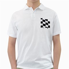 Flag Chess Corse Race Auto Road Golf Shirts