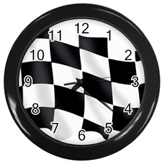 Flag Chess Corse Race Auto Road Wall Clocks (Black)