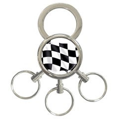 Flag Chess Corse Race Auto Road 3 Ring Key Chains
