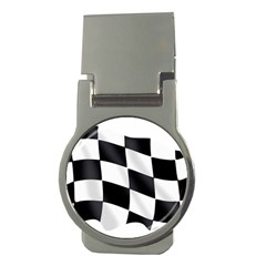 Flag Chess Corse Race Auto Road Money Clips (Round)