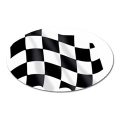Flag Chess Corse Race Auto Road Oval Magnet