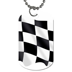 Flag Chess Corse Race Auto Road Dog Tag (One Side)