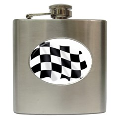 Flag Chess Corse Race Auto Road Hip Flask (6 Oz)
