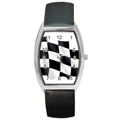 Flag Chess Corse Race Auto Road Barrel Style Metal Watch