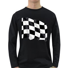 Flag Chess Corse Race Auto Road Long Sleeve Dark T Shirts