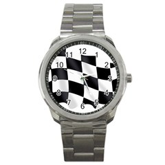 Flag Chess Corse Race Auto Road Sport Metal Watch