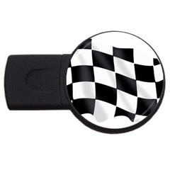 Flag Chess Corse Race Auto Road USB Flash Drive Round (4 GB)