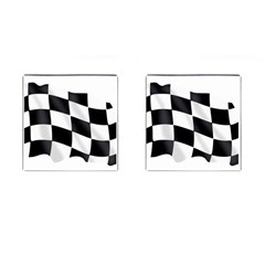 Flag Chess Corse Race Auto Road Cufflinks (square)