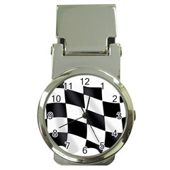 Flag Chess Corse Race Auto Road Money Clip Watches