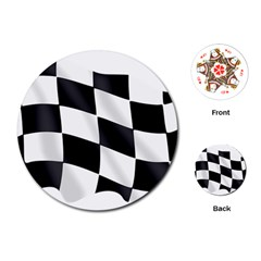 Flag Chess Corse Race Auto Road Playing Cards (round)