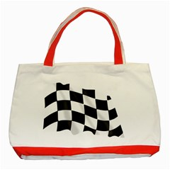 Flag Chess Corse Race Auto Road Classic Tote Bag (red)