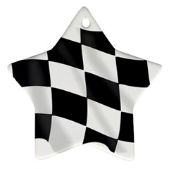 Flag Chess Corse Race Auto Road Star Ornament (two Sides)