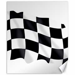 Flag Chess Corse Race Auto Road Canvas 20  x 24