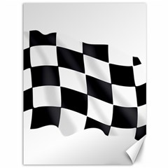 Flag Chess Corse Race Auto Road Canvas 36  x 48