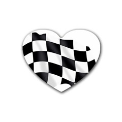 Flag Chess Corse Race Auto Road Heart Coaster (4 pack)