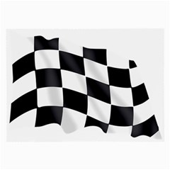 Flag Chess Corse Race Auto Road Large Glasses Cloth (2 Side)