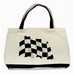 Flag Chess Corse Race Auto Road Basic Tote Bag (Two Sides)