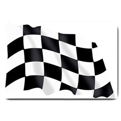 Flag Chess Corse Race Auto Road Large Doormat