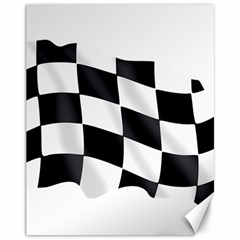 Flag Chess Corse Race Auto Road Canvas 11  X 14