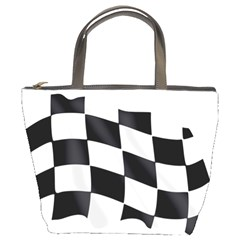 Flag Chess Corse Race Auto Road Bucket Bags