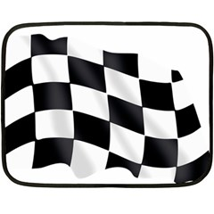 Flag Chess Corse Race Auto Road Double Sided Fleece Blanket (Mini)