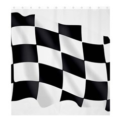 Flag Chess Corse Race Auto Road Shower Curtain 66  X 72  (large)