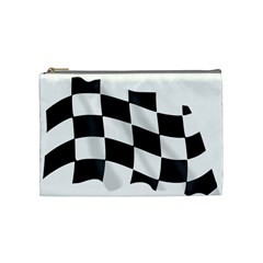 Flag Chess Corse Race Auto Road Cosmetic Bag (Medium)