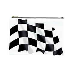 Flag Chess Corse Race Auto Road Cosmetic Bag (large)