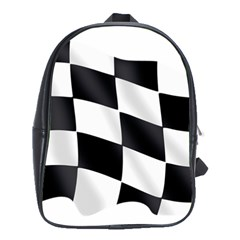 Flag Chess Corse Race Auto Road School Bags(large)