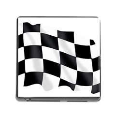 Flag Chess Corse Race Auto Road Memory Card Reader (Square)