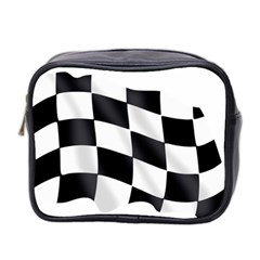 Flag Chess Corse Race Auto Road Mini Toiletries Bag 2 Side