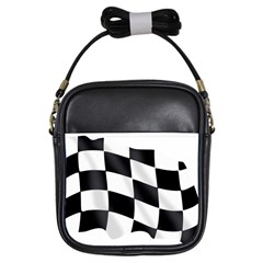Flag Chess Corse Race Auto Road Girls Sling Bags