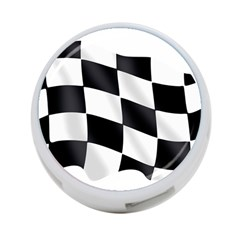 Flag Chess Corse Race Auto Road 4-Port USB Hub (Two Sides)