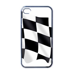 Flag Chess Corse Race Auto Road Apple Iphone 4 Case (black)