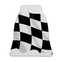 Flag Chess Corse Race Auto Road Ornament (Bell)