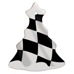 Flag Chess Corse Race Auto Road Christmas Tree Ornament (Two Sides)