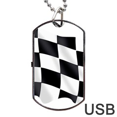 Flag Chess Corse Race Auto Road Dog Tag Usb Flash (one Side)