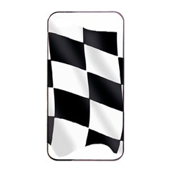 Flag Chess Corse Race Auto Road Apple Iphone 4/4s Seamless Case (black)