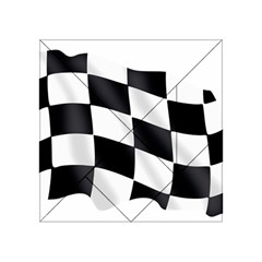 Flag Chess Corse Race Auto Road Acrylic Tangram Puzzle (4  X 4 )