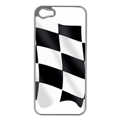 Flag Chess Corse Race Auto Road Apple Iphone 5 Case (silver)