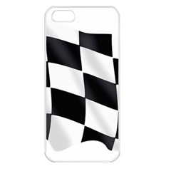 Flag Chess Corse Race Auto Road Apple Iphone 5 Seamless Case (white)