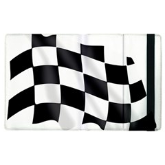 Flag Chess Corse Race Auto Road Apple Ipad 3/4 Flip Case