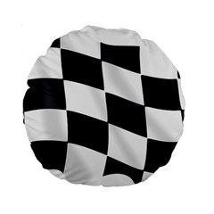 Flag Chess Corse Race Auto Road Standard 15  Premium Round Cushions