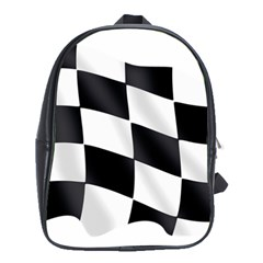 Flag Chess Corse Race Auto Road School Bags (xl)