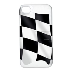 Flag Chess Corse Race Auto Road Apple Iphone 4/4s Hardshell Case With Stand