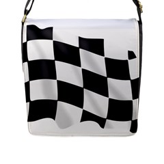 Flag Chess Corse Race Auto Road Flap Messenger Bag (l)