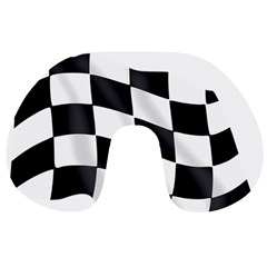 Flag Chess Corse Race Auto Road Travel Neck Pillows