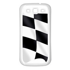 Flag Chess Corse Race Auto Road Samsung Galaxy S3 Back Case (white)