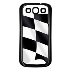 Flag Chess Corse Race Auto Road Samsung Galaxy S3 Back Case (black)